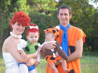 Homemade Flintstones Family Costume