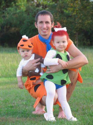 Homemade Flintstones Family Costume - Baby Costume Ideas