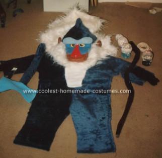Homemade Rafiki Costume from the Lion King