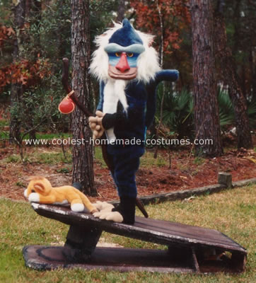 Homemade Rafiki Costume from the Lion King