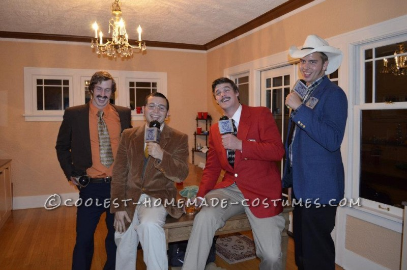 Anchorman Ron Burgundy and the Channel 4 News Team Reporting Live! Group Costume