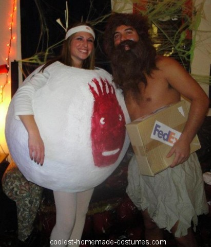 Coolest Adult Cast Away Couple Costume