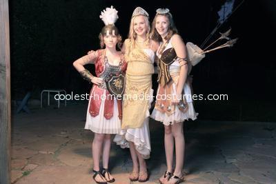 All three girls - Coolest Artemis Greek Goddess Costume