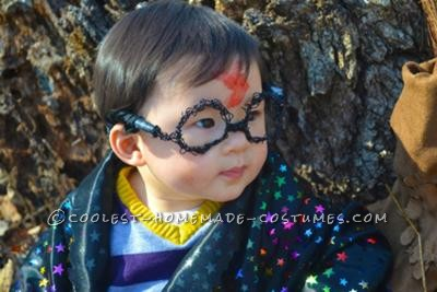 My son is 9 months old and each piece of his costume had to be made by hand.<br /> I started with the glasses - because of his size, I wire wrapped them b