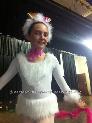 I made this cool cat ballet costume for my 10-year old daughter\'s choreography competition.