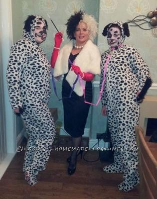 Cruella DeVille and her puppies
