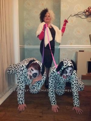 """Having been invited to a Disney themed 30th party, we were a bit lost as to what to go as. My friend discovered Dalmation """"Onesies"""" in a local"""