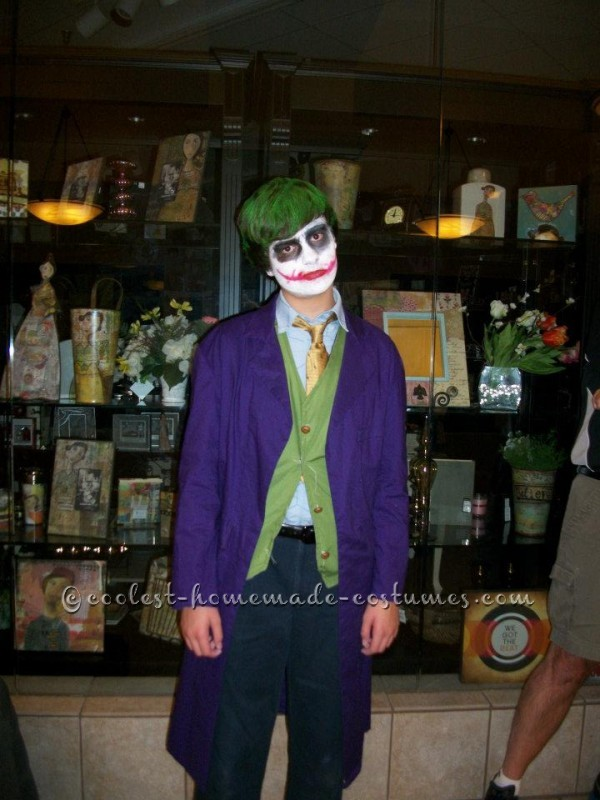 My son wanted to dress up as the Joker for Halloween last year. After looking at a couple store bought costumes I realized it would look better to ma