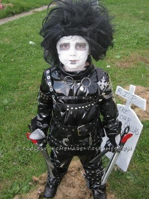My then 6 year old decided he wanted to be Edward Scissorhands for this past Halloween. After hours of searching online for a costume in his size, I