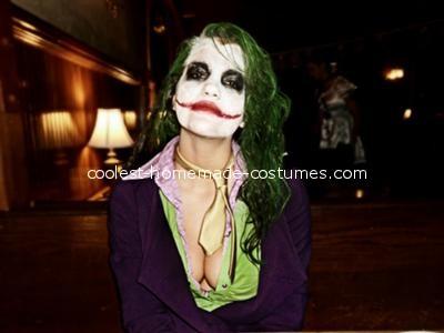 Waist up - Female Joker Costume