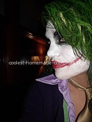 Make up details - Female Joker Costume
