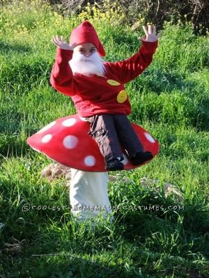 Coolest Gnome on Toadstool Costume