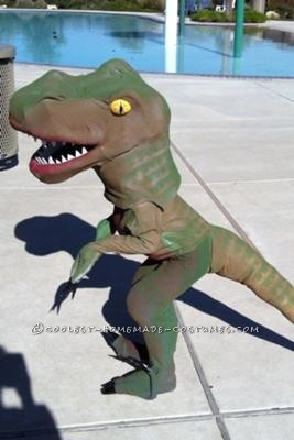 Coolest homemade dinosaur costume