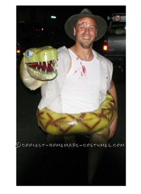 jungle explorer meets snake