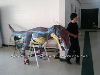 Last year I decided to build a velociraptor from Jurassic Park. I wanted it to be life-sized (in the movie it's 12 and a half feet long); it would