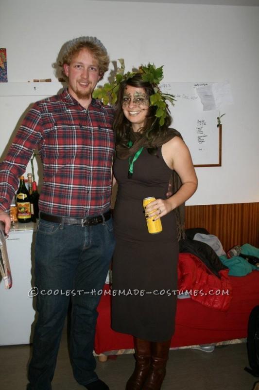 Coolest Last Minute Couple Costume: Tree and Lumberjack