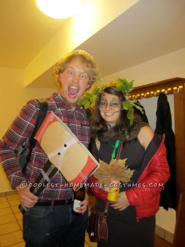 Coolest Last Minute Couple Costume: Tree and Lumberjack - 1
