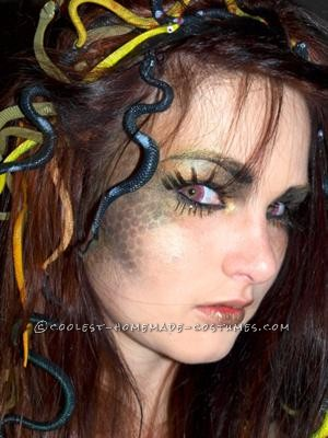 I wanted to make a medusa costume that would stand out and wouldn\'t make me look awkwardly bald like so many of the fake snake hair wigs do. I sta