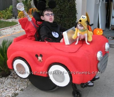 Coolest Mickey Mouse and Car Wheelchair Costume