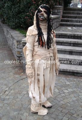 My wife female mummy costume