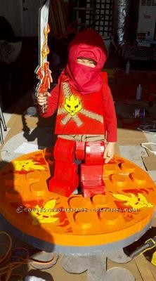 My son loves Ninjago, more specifically Kai. So, when I asked him what he wanted to be for Halloween, of course, it was Kai. We have a pretty big Ha