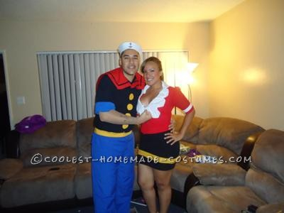 Coolest Popeye and Olive Oyl Costume Couples Costume