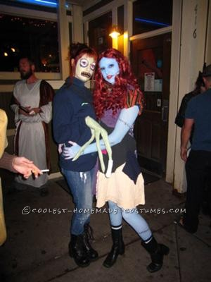 My friend as Salad Fingers and me as Sally  (Nightmare Before Chistmas)