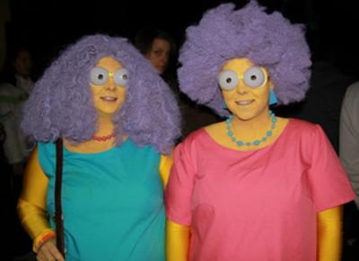 coolest Simpsons Patty and Selma costume