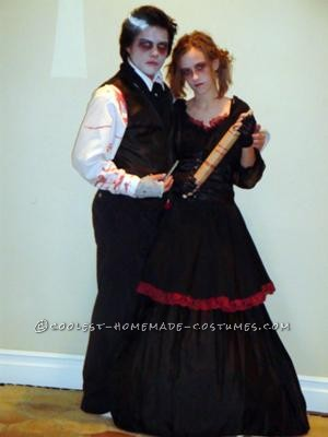 The Sweeney Todd movie just came out so my boyfriend and I knew exactly who we wanted to be for Halloween. Everything that you see was bought at a th