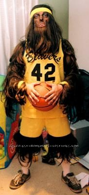 It was a friend\'s 80\'s birthday party and there was one only one person I was going as. I already owned the basketball costume as my wonderful