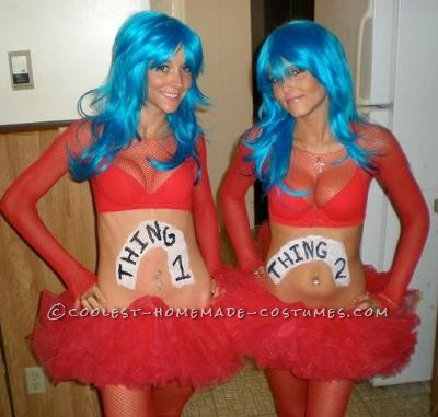 Coolest Sexy Thing 1 and Thing 2 Costumes