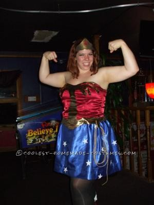 Obviously Wonder Woman isn\'t the most original costume idea ever, but I went with a whole 80\'sish costume theme for my kids and I. I absolutely