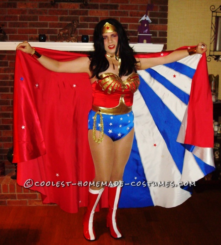 I've always wanted to be Wonder Woman for Halloween. I told myself if I could get to my goal weight which would mean loosing 80lbs, I could be Won