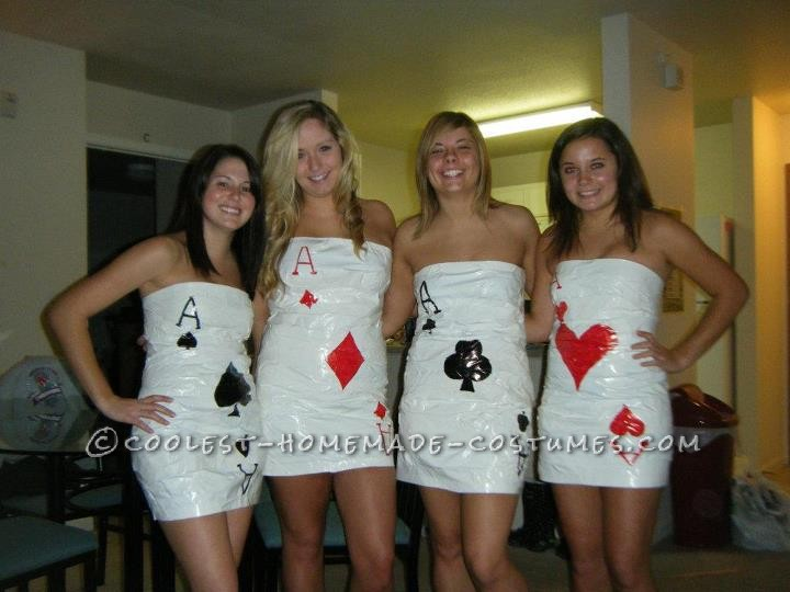 Sexy Four of a Kind Cards Group Costume
