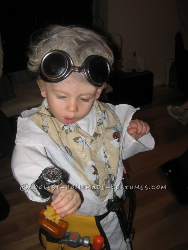 When our son Chase was born, my husband would constantly tease that his wayward 'old man' hair made him look like Doc Brown from 'B