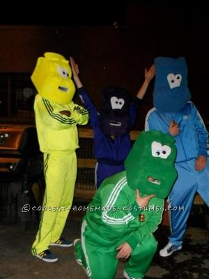 Me and my friends came up the idea for Halloween last year. It was a great success. We each ordered Adidas fire bird style track suits and old school