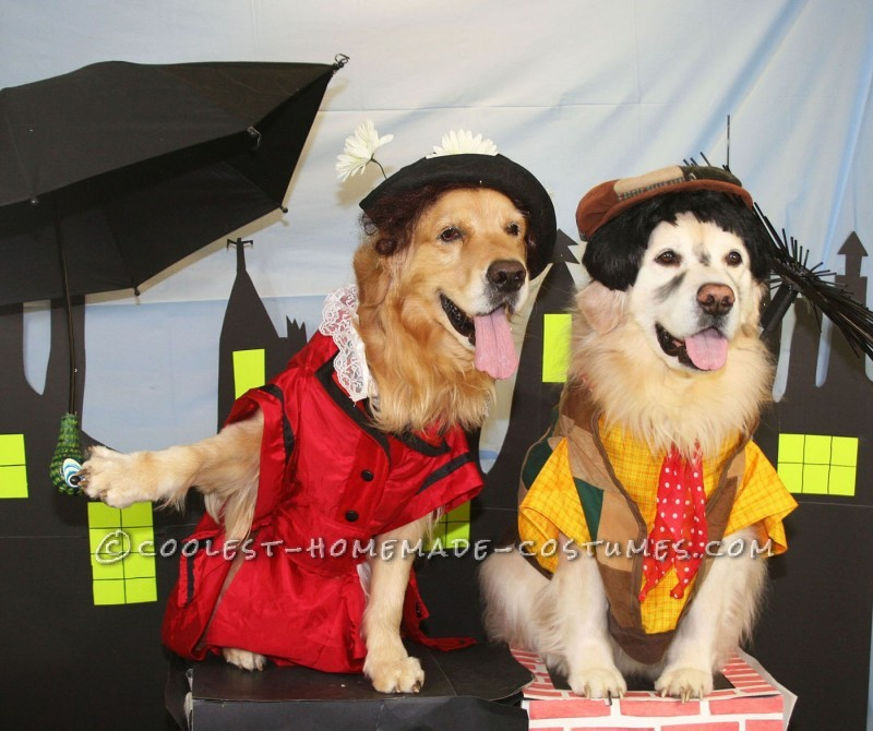 Phoenix as Mary Puppins and Aladdin as Bert, the chimney-sweep