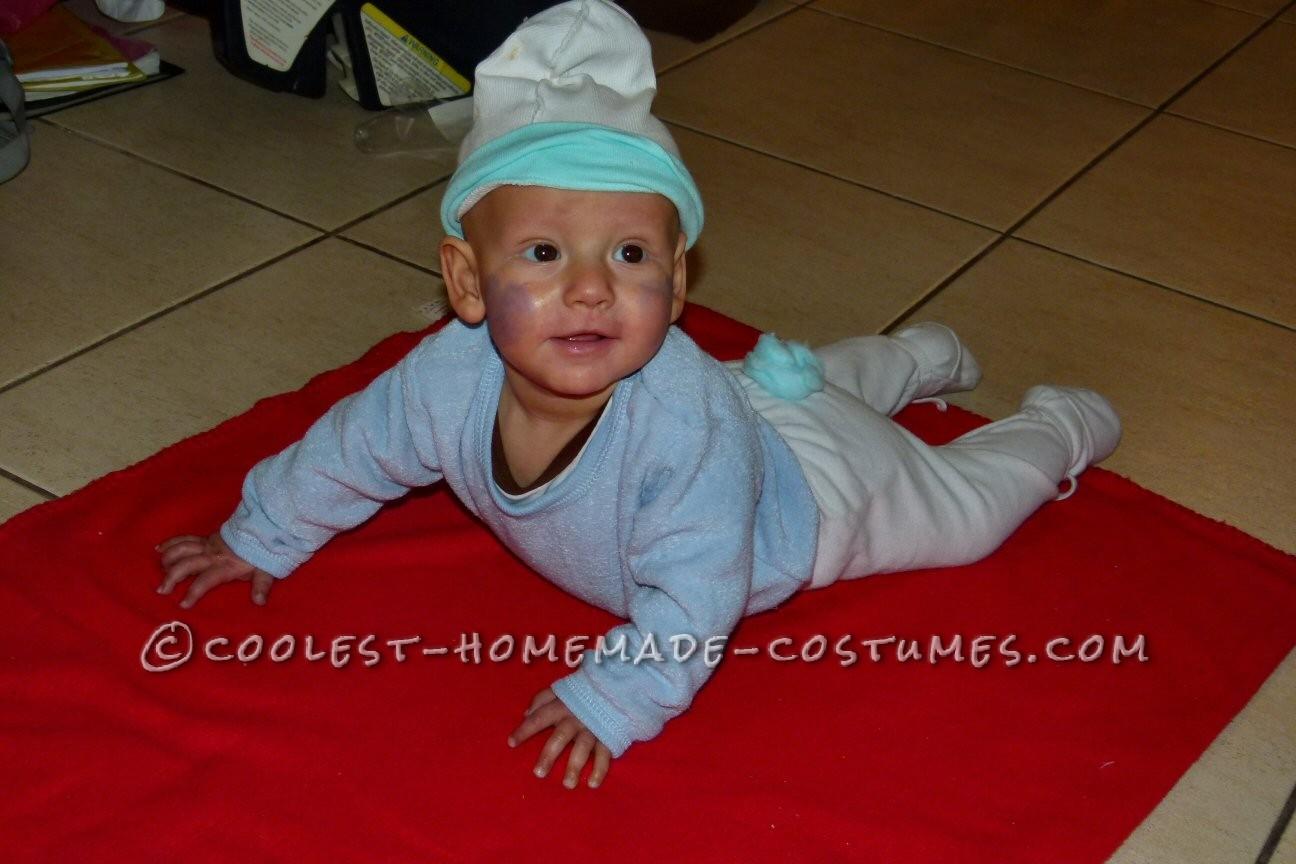 Cute Homemade Baby Smurf Costume