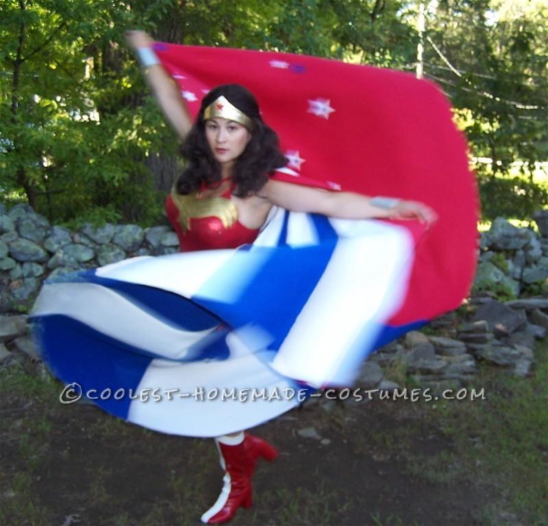 No Sew Wonder Woman Costume - Cape