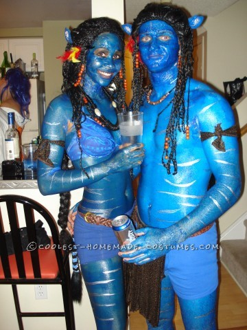 After seeing the Avatar movie and absolutely loving it, my friend and I decided we HAD to dress up as Avatars for halloween. There were alot of full