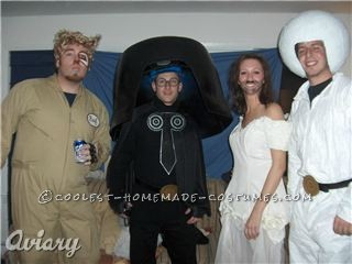 This costume was made up of Lord Helmet, Princess Vespa\'s stunt double, a Space Ball Trooper, and Barf. We picked characters based who we looked l