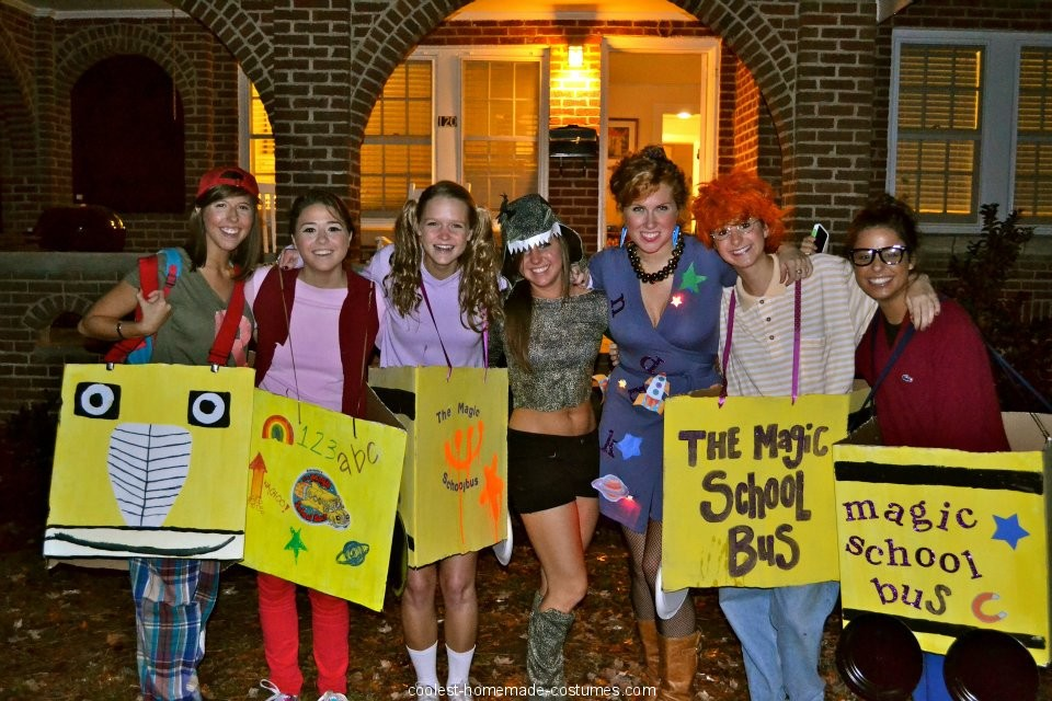 Coolest Magic School Bus Group Costume