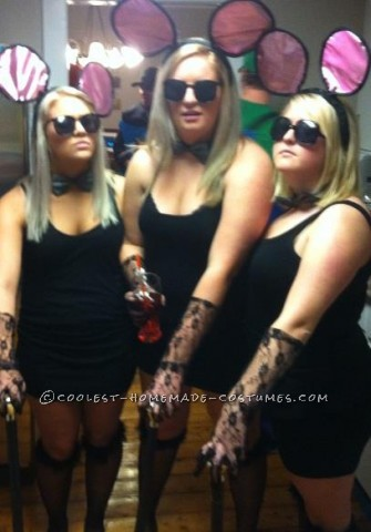 My bestfriends and I decided to be the 3 blind mice for halloween.. We collected all of the items at different stores and created these masterpeices
