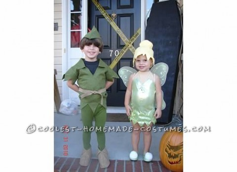 I combed the internet for a Tinerbell costume for my 2 year old and a Peter Pan costume for my 4 year old. I didn't some accross any that I was happ
