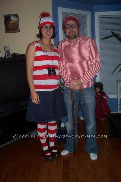 I make my costumes every year. Last year my husband and I wanted to go as Waldo and Wenda. This costumes was cheap and easy and fun to ma
