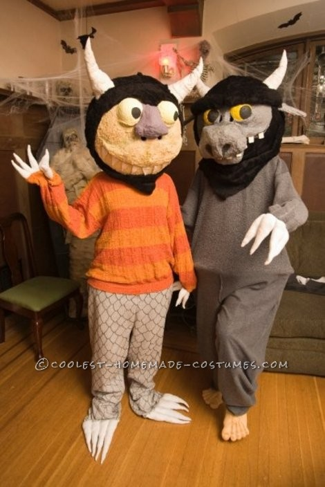 My wife, being an elementary librarian, came up with the idea of honoring Maurice Sendak with this year's costume. We always do homemade costu