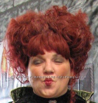 This was my creation Of Wini for a child\'s trick or treat at we did at work. I used a gothic wig and pulled all the hair into two sections and pin