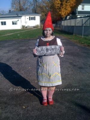 I made my zombie gnome costume from things I found at the thrift store, a Halloween shop, and some so old curtains I had at my house. I have always w