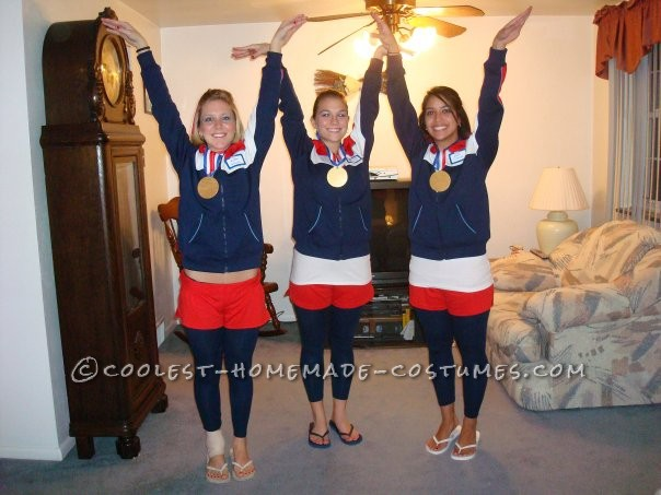 Coolest 1996 Women's Olympic Gymnasts Group Costume - 1