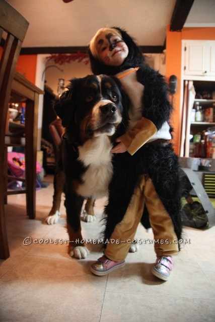 A Girl Dressed As Her Dog for Halloween - 4